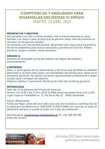 competencias y habilidades para desarrollar ... - Carolina Isaacs