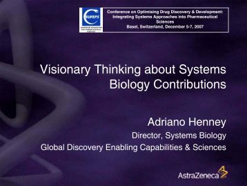 AZ Systems Biology Skills & Capacity Gaps - European Federation ...