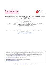 Professor Michael John Davies, MD, FRCPath, FRCP ... - Circulation