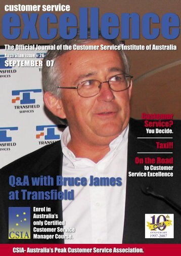 continued - Customer Service Institute of Australia