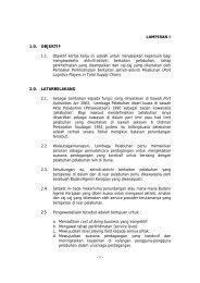 1 - LAMPIRAN I 1.0. OBJEKTIF 1.1. Objektif kertas kerja ... - Port Klang
