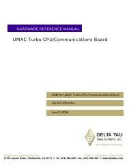 UMAC Turbo CPU/Communications Board