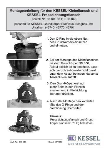 Montageanleitung für den KESSEL-Klebeflansch und KESSEL ...