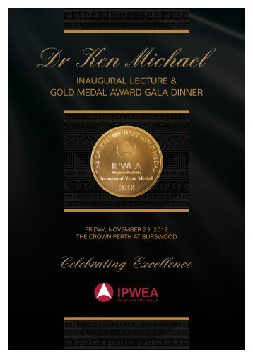 GolD meDal awarD Gala Dinner - Engineers Australia