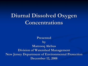 Diurnal Dissolved Oxygen Concentrations