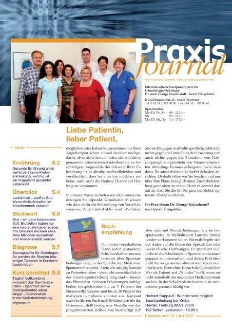 Ausgabe 7 / 2007 - Onkologische Schwerpunktpraxis Darmstadt