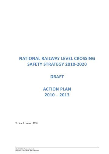 national railway level crossing safety strategy 2010-2020 draft action ...