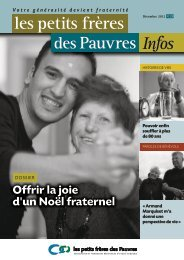 Les petits frères des Pauvres infos n°27 - décembre 2012