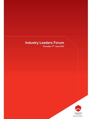 Industry Leaders Forum - Engineers Australia