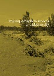 Valuing ecosystem services and biodiversity - Biodiversity Skills