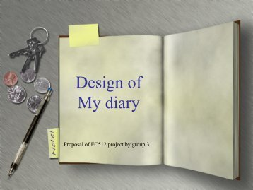 Design of My diary - Tom