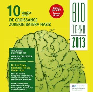 DE CROISSANCE ZUREKIN BATERA HAZIZ - Bioterra - Ficoba