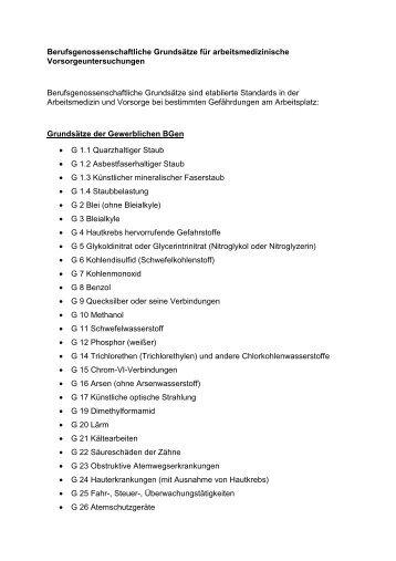 Vorsorgeuntersuchungen - Werksarzt.org