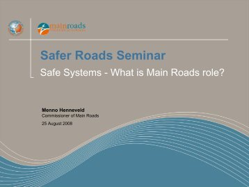 Safer Roads Seminar - Engineers Australia