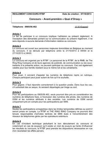 Concours – Avant-première « Quai d'Orsay » - Rtbf