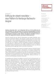 Eröffnung der stilwerk manufaktur – neue Plattform für Hamburger ...