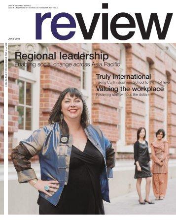 Regional leadership - Health Sciences - Curtin University of ...