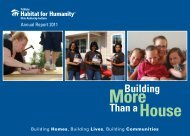 Building More Than aHouse - TriState Habitat for Humanity