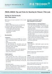 Technical Information No. 70 - P+S TECHNIK