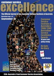 Book Review…continued - Customer Service Institute of Australia