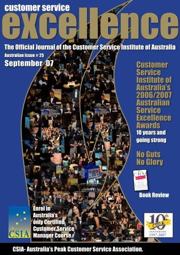 Book Review…continued - Customer Service Institute of Australia