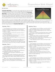 Preparedness Made Simple Checklist (Printable PDF ... - I Will Prepare