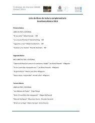 Lista de libros de lectura complementaria Enseñanza Básica 2013