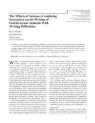 The Effects of Sentence-Combining Instruction on the Writing of ...
