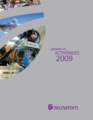 Informe de Actividades 2009 - Tecnatom