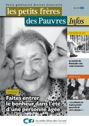 Les petits frères des Pauvres infos N°17 : 2nd trimestre 2010