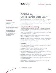 "GoToTraining Online Training Made Easyâ""¢ - Citrix Online"