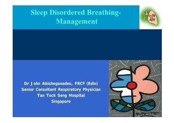 Sleep Disordered Breathing- Management - MAPTB