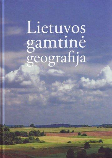Lietuvos gamtinė geografija - Vilniaus universitetas