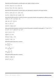 Résoudre dans ℝ les équations suivantes après avoir repéré un ...