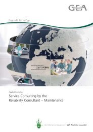 Service Consulting by the Reliability Consultant - GEA Westfalia ...