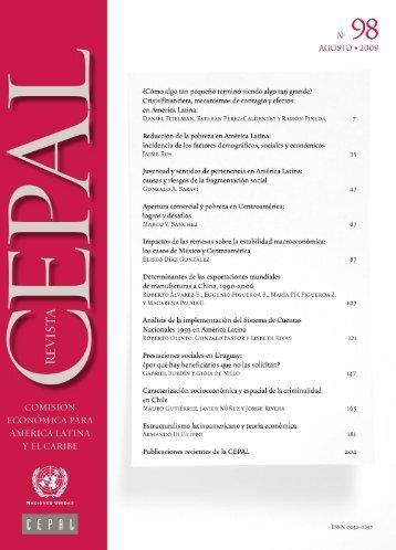 Revista CEPAL Nº98