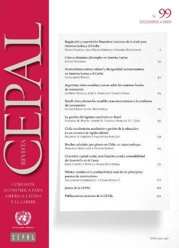 Revista CEPAL Nº99