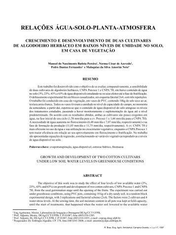 1 - Revista Brasileira de Engenharia Agrícola e Ambiental