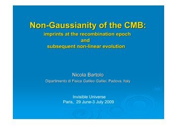 Non-Gaussianity of theCMBimprints at ... - Univers Invisible