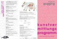 Folder Kunstvermittlung - Museum Gugging