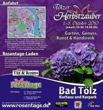 Werbeflyer als PDF-Datei - Tölzer Rosentage