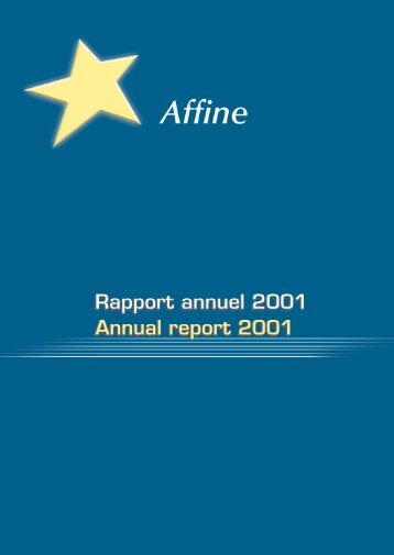 Rapport Annuel 2001 - Affine