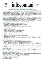 Fruibilità e utilizzo di stazioni e fermate ferroviarie - Comune di Fino ...