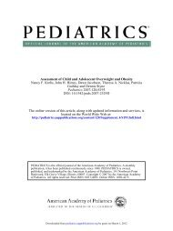 Assessment of Child and Adolescent Overweight and Obesity ...