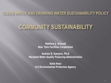 Clean water and drinking water sustainability policy Community ...