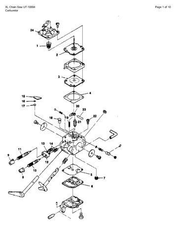 Carburetor kits b xl chain saw ut 10694 page 1 of 10 carburetor edoqs ccuart Image collections