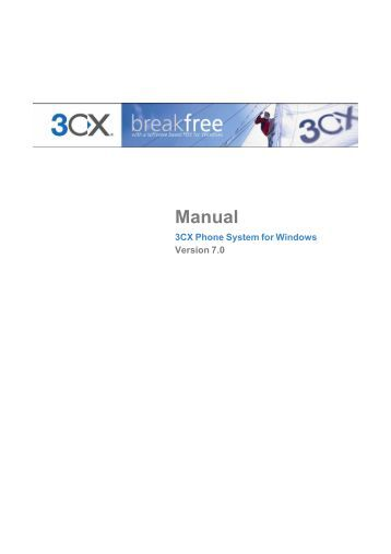 3CX Phone System for Windows Manual - ICE Partners