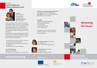 Mentoring für Frauen Chance 2011 Infoveranstaltung - Frau und Beruf