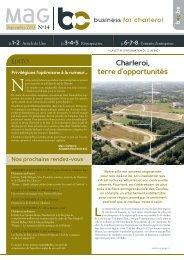 Magazine B4C n°14 (Septembre 2013) - B4C » Business for Charleroi