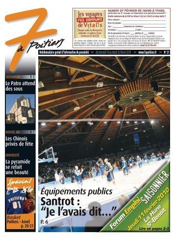 n° 21 voir ce numéro - 7 à Poitiers